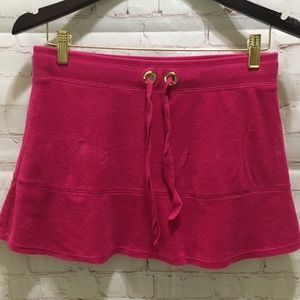 Tommy Hilfiger hot pink terry cloth cover up skirt